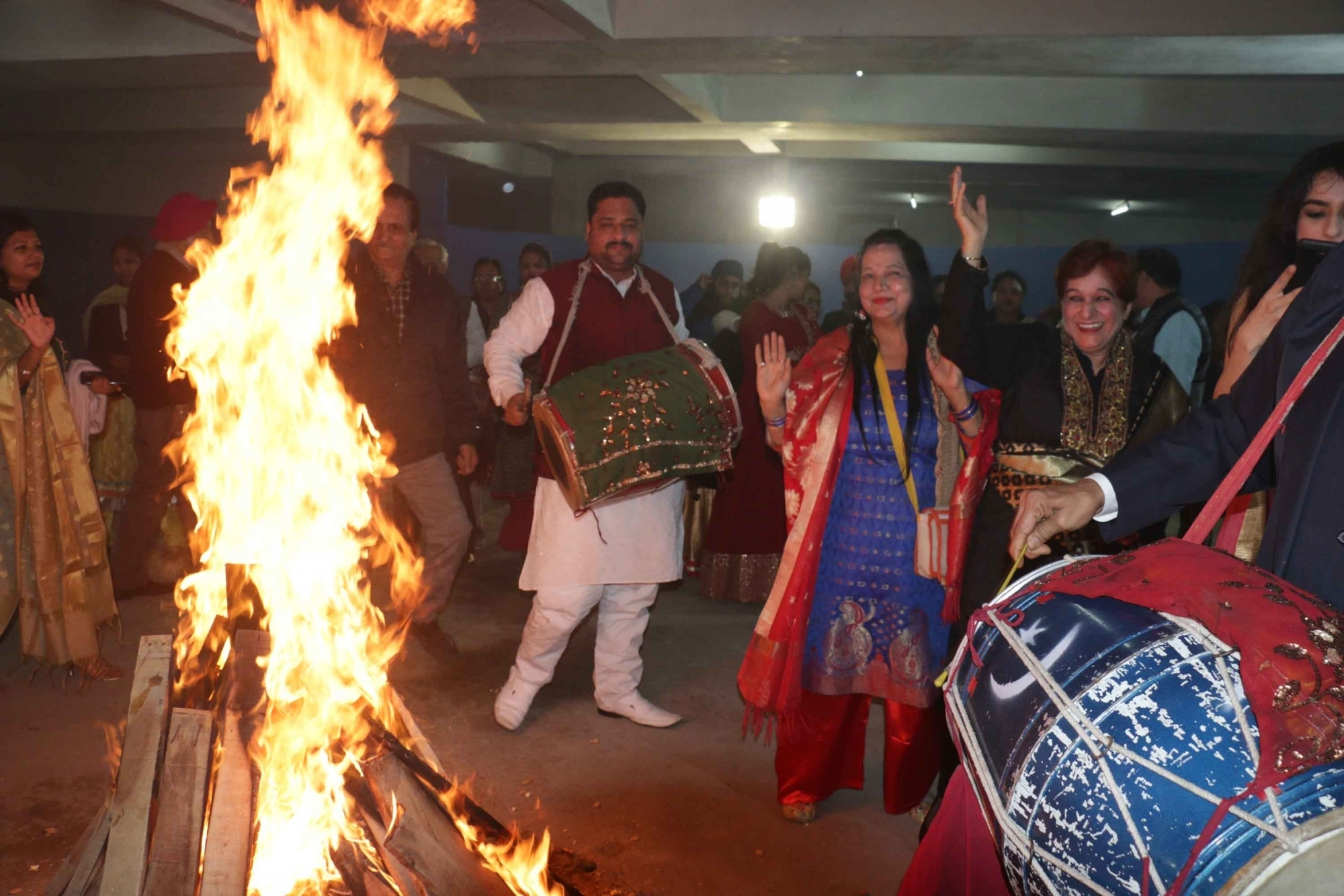 Lohri celebrated by farmers protesting agri laws in Noida