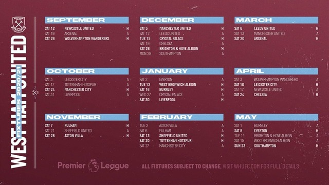 west ham united seek a brighter outcome in the 2020 2021 epl standings sports games devdiscourse
