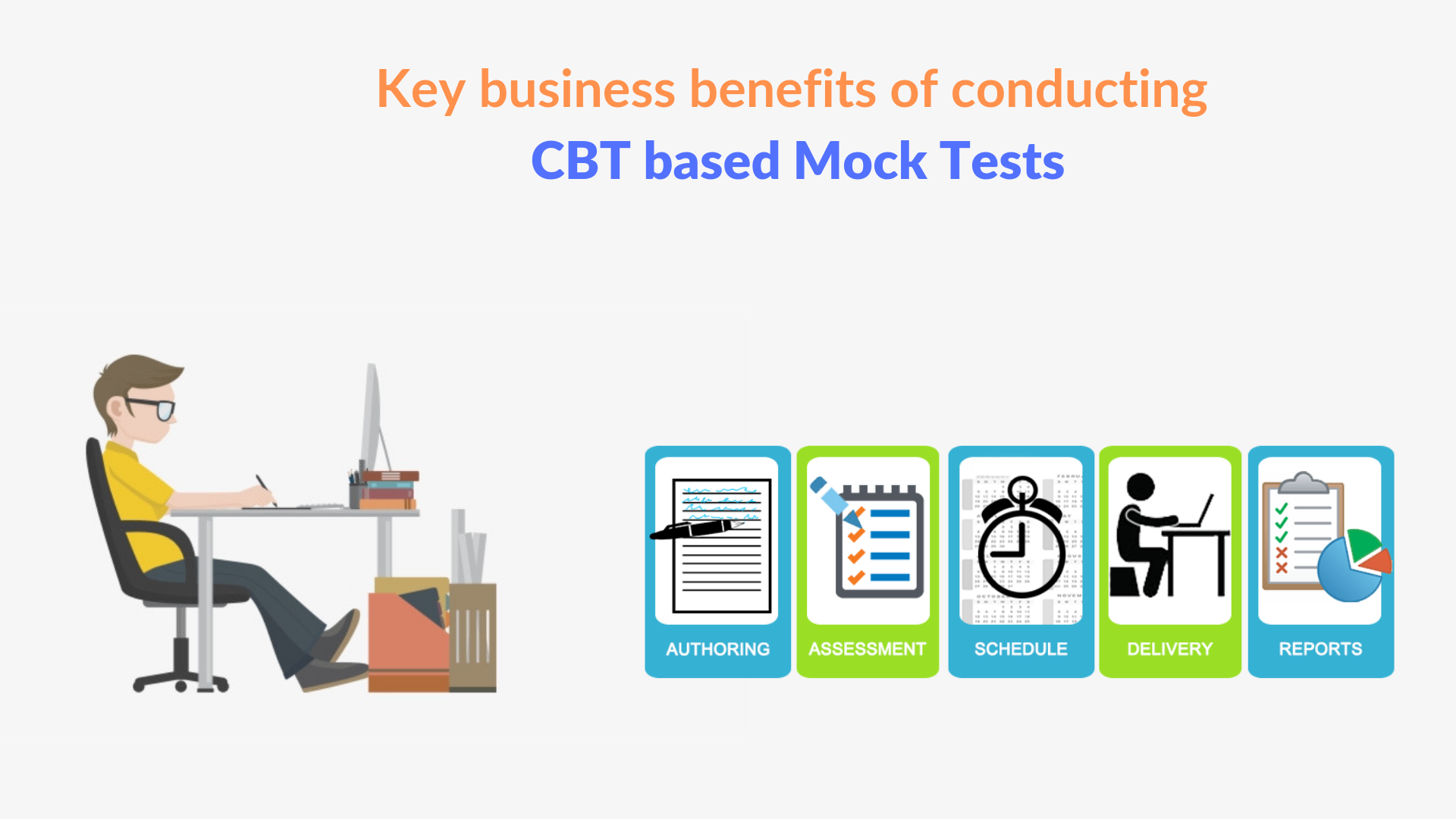 Key business benefits of conducting CBT based Mock Tests