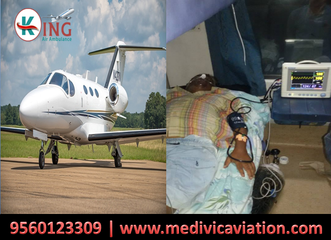 King Air Ambulance provides services for relocation of patients from Kolkata to Delhi
